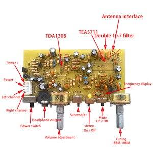 Image 2 - Lusya tablero de Radio FM estéreo TEA5711, modulación de frecuencia Digital, tablero de Radio, puerto serie, G10 012 de Radio FM DIY