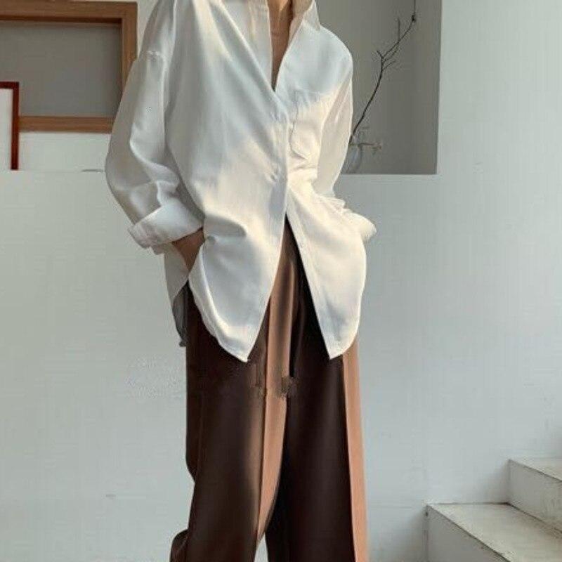 Turn Down Collar Long Sleeve Pocket Shirt 8