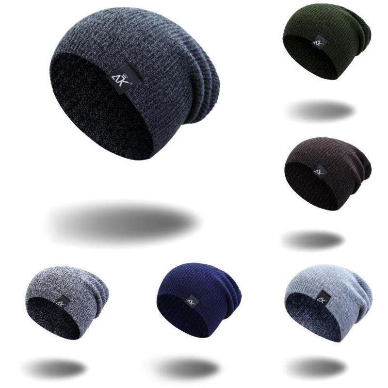 Fashion Chic Knitted Cap Skull Unisex Men Women Ski Slouchy Knit Baggy Beanie Winter Hat Girl Hats Scard Set Lots Color Choose