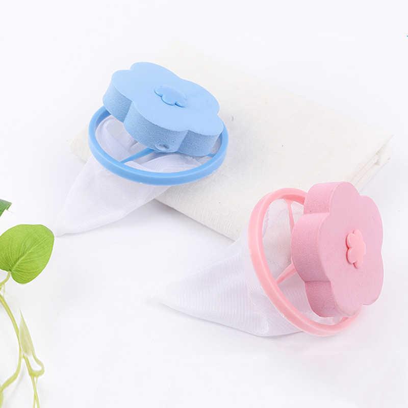 Wasmachine Lint Filter Bag Wasserij Mesh Haar Catcher Drijvende Bal Pouch 30g Roze, Blauw @ 4