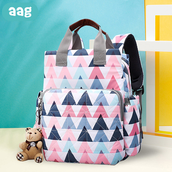 AAG 2Pcs/set Large Capacity Mummy Bags Backpack Baby Diaper Bags Mummy Maternity Bag Backpack for Daddy Baby Nappy Changing Bag цена 2017
