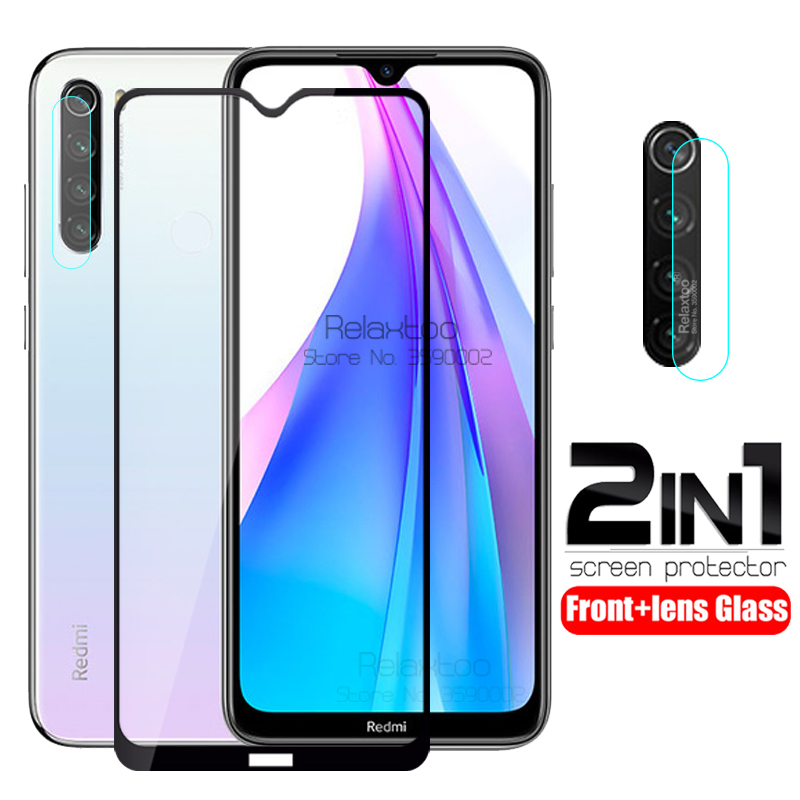 2 In 1 Camera Tempered Glass For Xiaomi Redmi Note 8T Screen Protector On Redmi Note 8 T Glass Note8T Lens Protective Film Cover