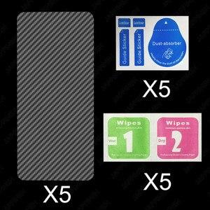 Image 5 - 5Pcs Back Full Cover Carbon Fiber Film Screen Protector for Huawei Honor 9X 8X 10 Lite 10i View 20 Play Nova 5 5i Pro P Smart