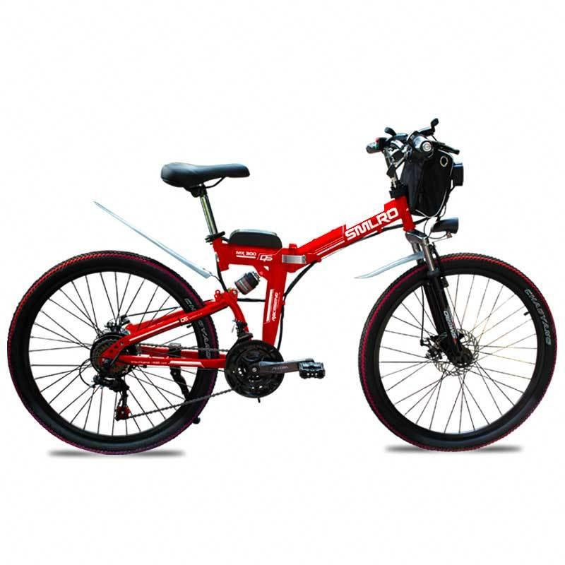 Canvas Battery Bag e bike 26 inch 350W Lithium Battery   Folding  Electric Bicycle E Bike 1