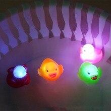 Резиновая утка для ванной мигающий светильник игрушка авто Цвет Изменение Детские Ванная комната игрушки Мульти Цвет светодиодный светильник для ванной игрушки для детей