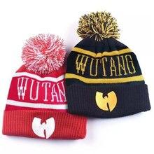 Wutang inverno quente lã de malha chapéu manter quente para homem e mulher hip-hop boné moda brilhante lã de seda quente gorro