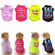 Летняя жилетка для собак, рубашка, одежда, пальто для питомцев, кошек, щенков, крутая дышащая одежда для чихуахуа, ropa para perro, костюмы для собак