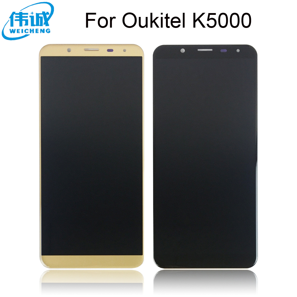 WEICHENG New model For 5.7 inches <font><b>Oukitel</b></font> <font><b>K5000</b></font> <font><b>LCD</b></font> Replacement Digitizer Touch Screen + <font><b>lcd</b></font> display assembly + Free tools image