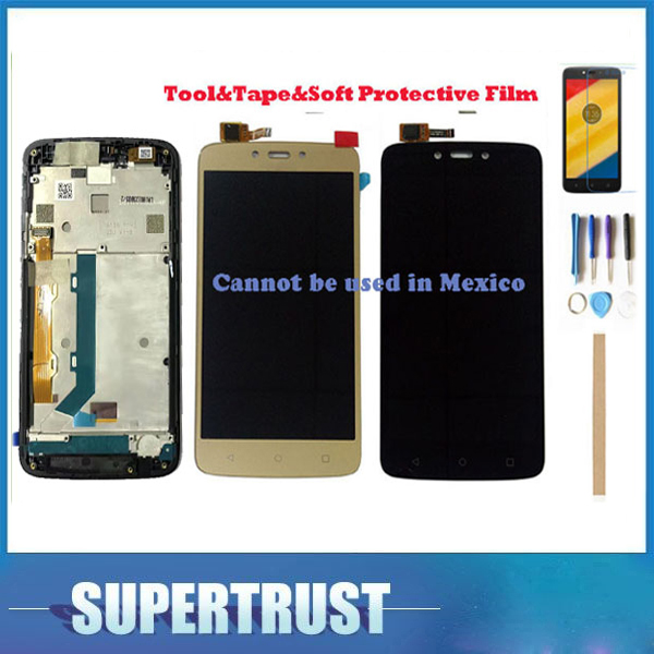 Without/With Frame For Motorola Moto C Plus CPlus XT1721 XT1722 XT1723 XT1724 LCD Display Touch Screen Sensor With Kit