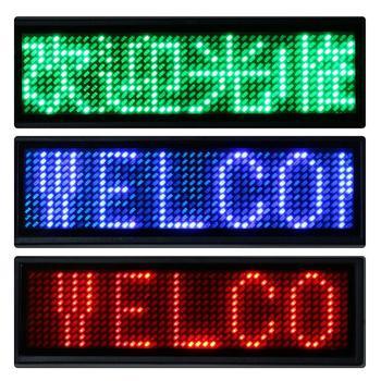 Programowalny Mini LED cyfrowy Tag 4 kolory akumulator programowalny przewijanie nazwa wiadomość Tag znak przyciągający wzrok Led nazwa Tag tanie i dobre opinie 290021 Posiadacza karty identyfikacyjnej 9 2*3*0 6 cm Red Green Blue White 3 levels