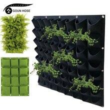 Parede-montado saco de plantio verde vegetal plantio vaso de flores vertical multi-bolso saco de jardinagem suprimentos de plantio