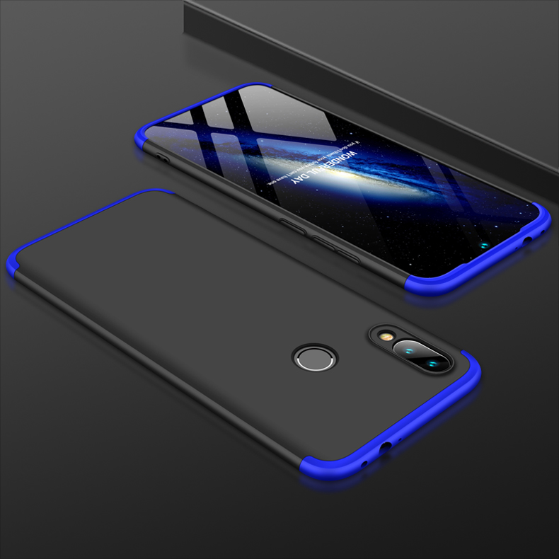 H98f5e4a143934d4caa62754f4d64a0f6A 3-in-1 Plastic Hard 360 Tempered Glass + Case for Xiaomi Redmi Note 7 Anti-Shock Back Cover Case for Xiaomi Redmi Note 7 Pro 7A