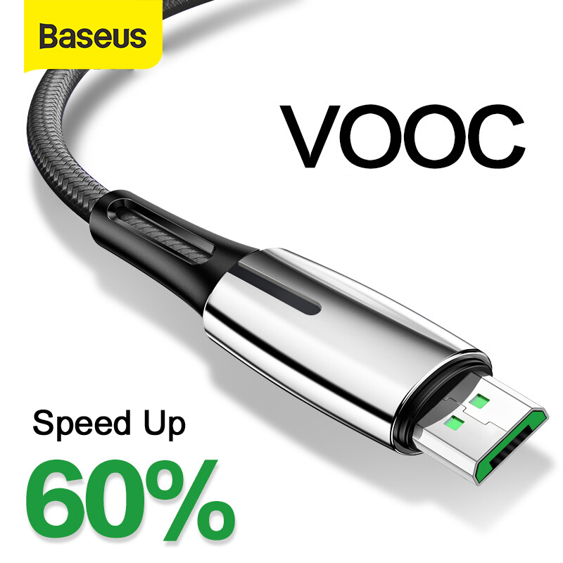 Baseus USB Micro Cable Support VOOC 4A Flash Charging For OPPO 2A Charge For Samsung Xiaomi Redmi Charger Micro USB Cord