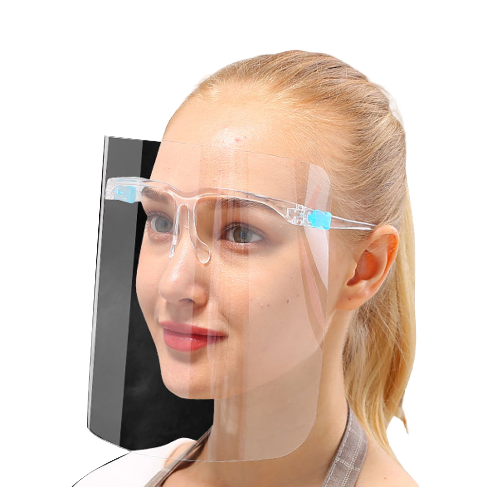 Newest Transparent Anti Saliva Splash Safety Goggles And Full Face Shield Sets Clearly Protective Mask And Glasses Frame