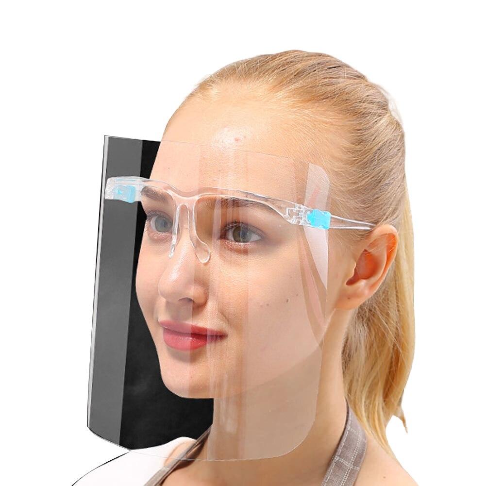 Nuevas gafas transparentes de protección contra salpicaduras de Saliva y conjuntos de protección facial completa máscara y Marco de gafas claramente protectores 9D para huawei P30 Lite P30Lite P 30 protector de pantalla de luz vidrio templado para huawei p20 lite pro p20lite p10 vidrio protector
