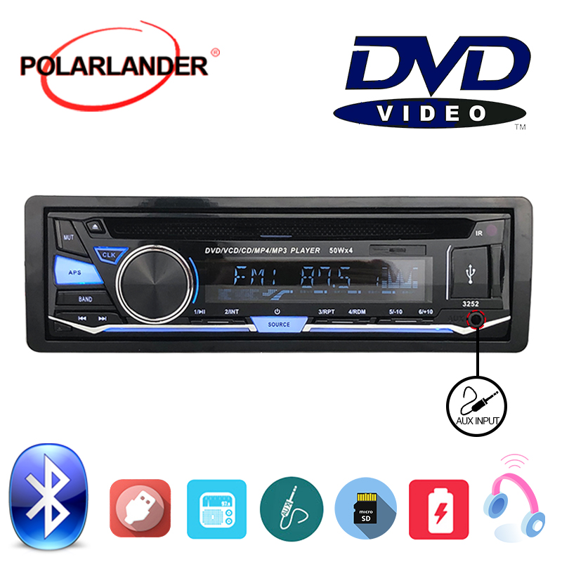 Audio Music With Remote Control FM AUX IN USB SD card 1 DIN Removable panel Car Radio Stereo BT Bluetooth CD DVD MP3 player image
