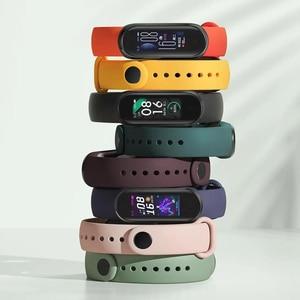 Image 5 - שיאו mi mi Band 3 4 הגלובלי גרסה חכם צמיד כושר צמיד להקת שעון 3 גדול מגע מסך הודעה קצב לב זמן Smartband