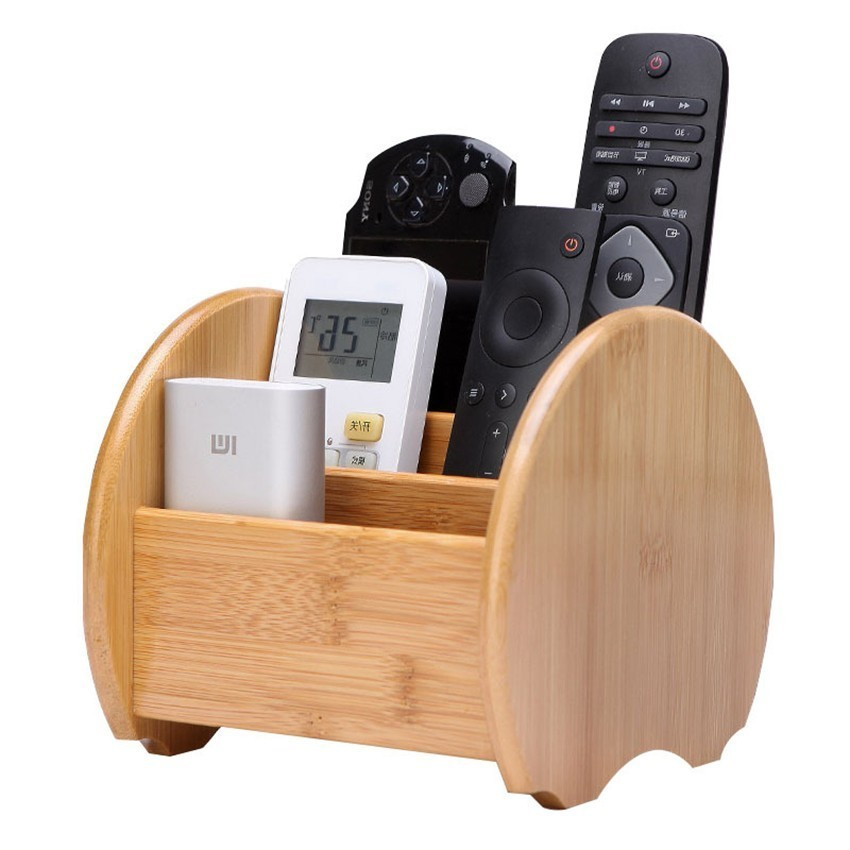 Creative Bamboo Remote Control Storage Box for Living Room  Table Storage Box Desktop Porch Key Finishing Rack Dropshipping|Storage Boxes & Bins| |  - title=