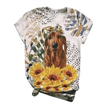2020 T-Shirt Plus Size Women Short Sleeve 3D Animal Printed O-Neck Tops Tee Tee Shirt Blusas Mujer spot water drop printed plus size shirt