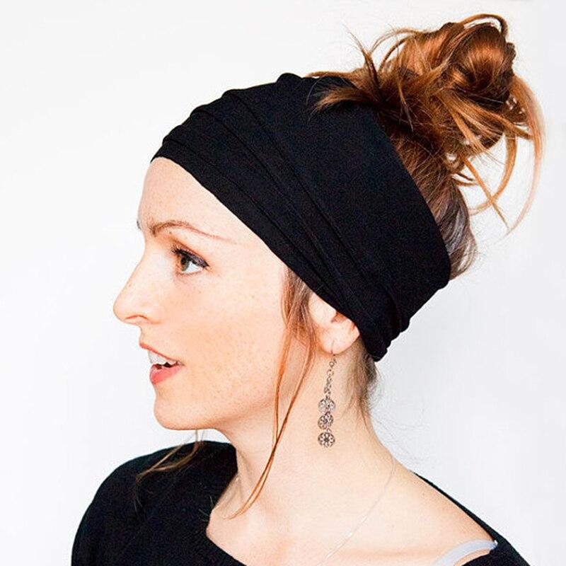 Модная женская лента для волос, одноцветная Складная лента для волос для девочек, эластичные резинки для волос для женщин, аксессуары для