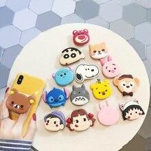 Universal Phone scoket Holder Stand Gasbag Bracket Expanding Finger Cartoon Sakura Momoko Stitch for xiaomi redmi note 6 7
