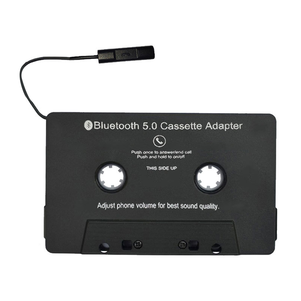 Car AUX Audio Cassette Tape Adapter Converter with Mic for MP3 iPod Cellphone #2