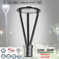 30/50W Outdoor Led Area Post Top High Quality Decorative Light Led Street Style Road Public Parks Courtyard Lighting Lamp Lights