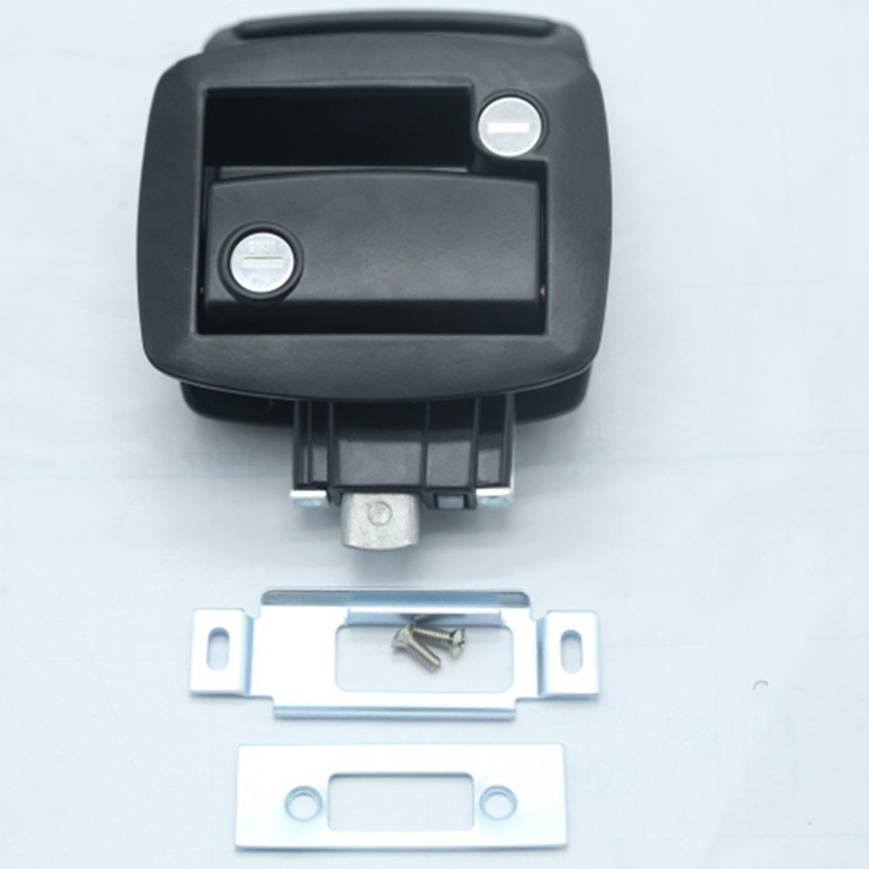New Black RV Paddle Entry Door Lock-9