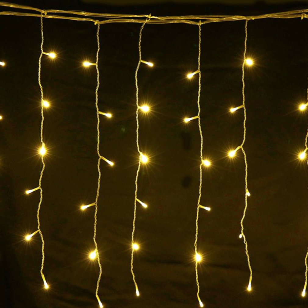 LED curtain light string 3*1m 3*2m 3*3m meters Christmas outdoor waterproof holiday wedding decoration small lanterns wholesale|Lighting Strings| |  - title=