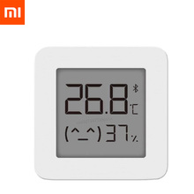 with Battery XIAOMI Mijia Bluetooth Thermometer 2 Wireless Smart Electric Digital Hygrometer Thermometer Work with Mijia APP