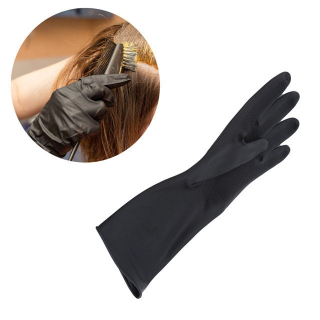 1 Pair Hair Thicker Rubber Gloves Hair Dyed Gloves Durable anti-slip Beauty Salons Hairdressing Hair Care Styling Tools Hot