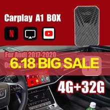 Автомобильный мультимедийный плеер Carplay Ai Box, приставка с видео на Android, с Mirrorlink, для Benz Audi TV, 4 + 32 ГБ