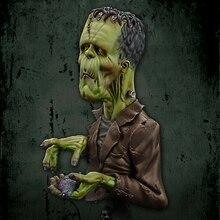 1/12 homem antigo filme papéis busto resina figura modelo kits miniatura gk unassembly sem pintura