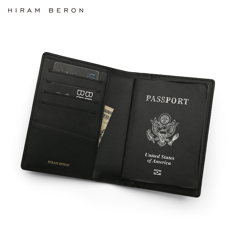 Hiram Beron Custom Name FREE Leather Passport Case Leather for 2 passports Italian leather crocodile pattern luxury dropship in Travel Accessories from Luggage Bags