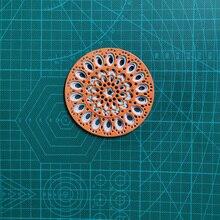 3pcs Metal Cutting Dies Set Circle Flowers Mould Scrapbook for Stamp & Greet Card Making Cut Paper Craft 2020 New