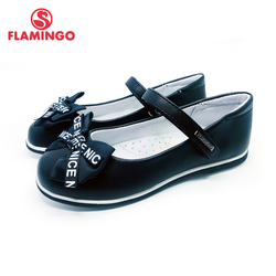 FLAMINGO New Bowknot Foot Arch design a Spring&Summer  Size 30-36 school shoes for girl Free Shipping 202T-Z6-1965/66