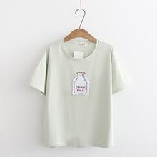 print women T shirt casual short sleeve Tshirt female o-neck women t-shirt t-shi
