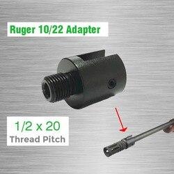 Adaptateur fileté à extrémité cylindrique 1/2x20 pour adaptateur de filetage Ruger 10/22 CNC adaptateur de canon en acier allié 1/2-20 1/2