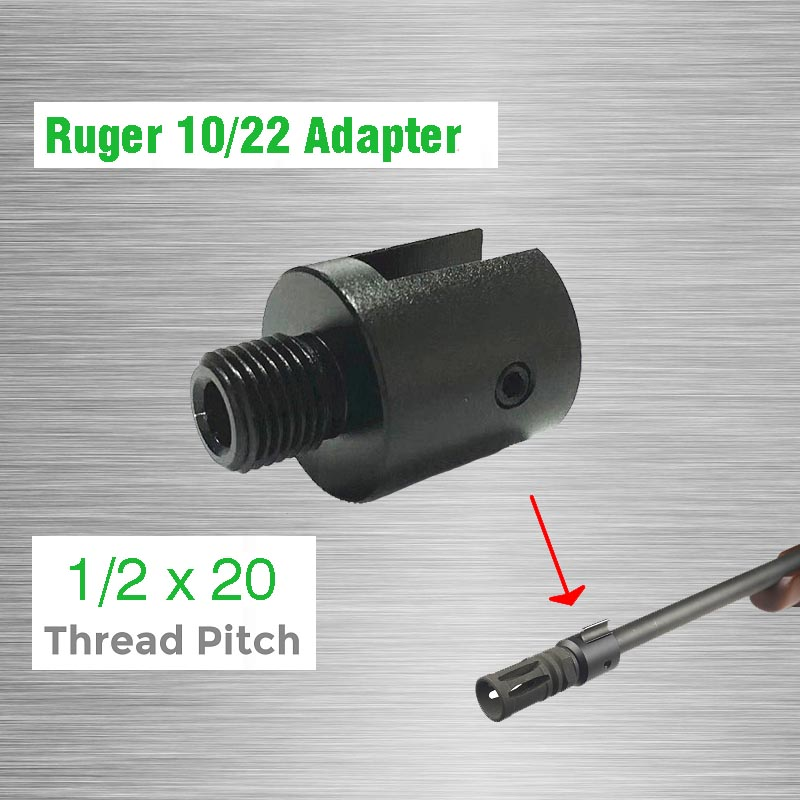 Barrel End Threaded Adapter 1/2x20 For Ruger 10/22 Thread Adaptor CNC Alloy Steel Muzzle Barrel Adapter1/2-20 1/2