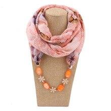 AliExpress ebay Preferred Shell Jewelry Necklace Scarf Women Bamboo Cotton Print Fashion Exaggerated