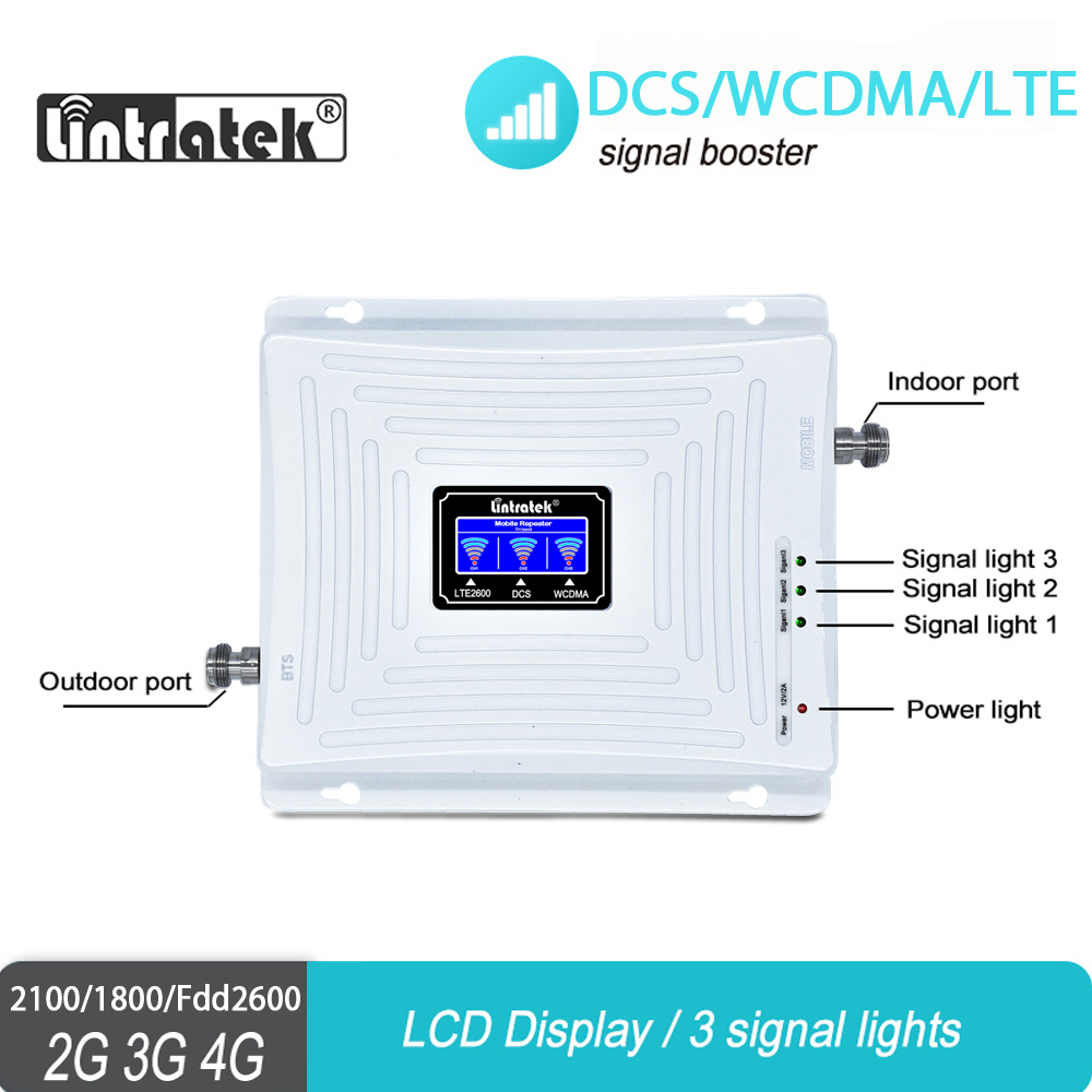 Russian 4G Signal Booster LTE 1800 2600MHz Repeater DCS B3 Band7 WCDMA 2100MHz 3G Amplifier for Data and Internet