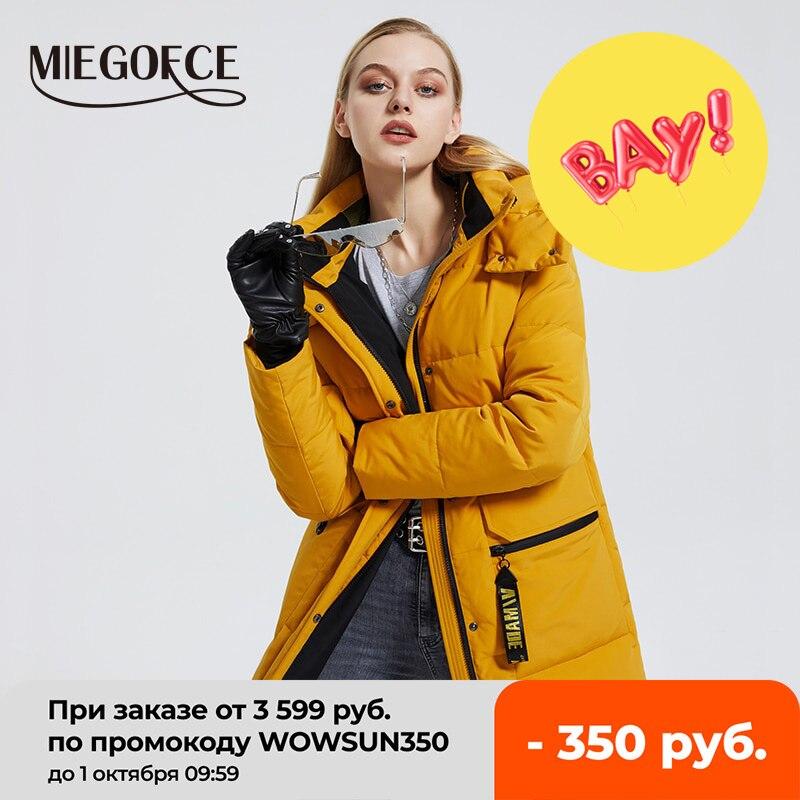 MIEGOFCE 2020 Winter New Women's Cotton Coat Warm Windproof Jacket Simple Design Winter Parka Women Clothes Wintertime Coat|Parkas| - AliExpress