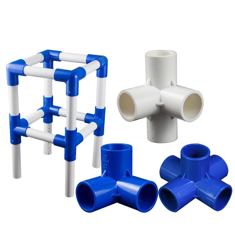 4Pcs PVC Joint Water Pipe Tube Adapter Connectors 32m Inner Diameter 5 Ways