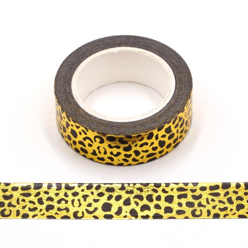 10m Decor Japanese Paper Foil Washi Tape Hearts Copper Black DIY Planner Masking Tapes School Office Supplies Foil Washi Tape