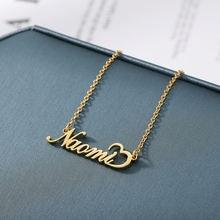 Индивидуальное ожерелье с именем сердца золотистые ожерелья