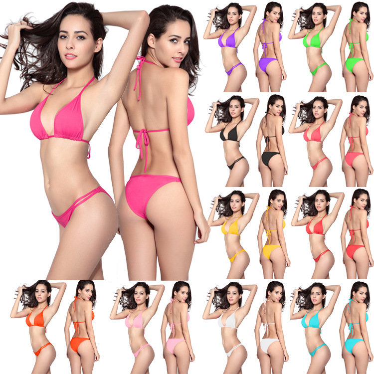 Bathing Suit Bikini Swimwear Europe And America Hot Selling Bikini Bikini Currently Available Low Price Tour Bathing Suit