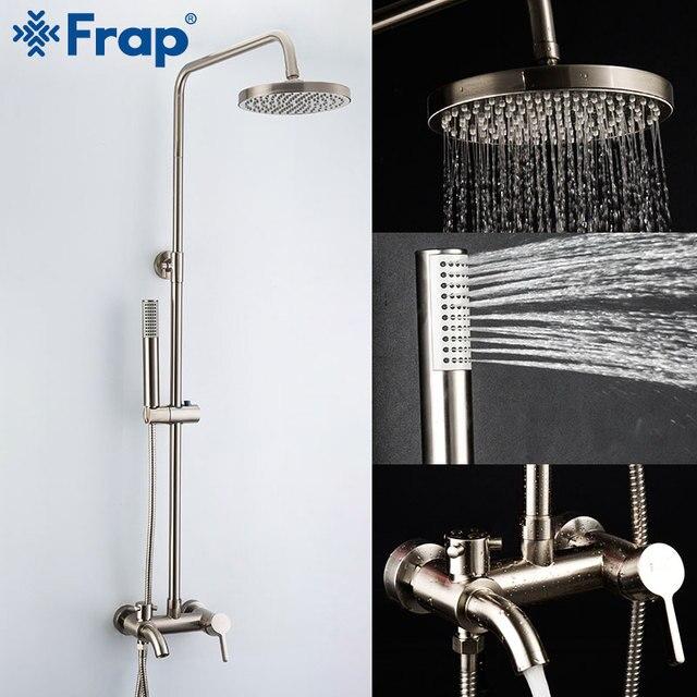 Frap ก๊อกน้ำห้องน้ำก๊อกน้ำอาบน้ำ Mixer ก๊อกน้ำหัวฝักบัวชุดน้ำตกอ่างอาบน้ำก๊อกน้ำ F2411