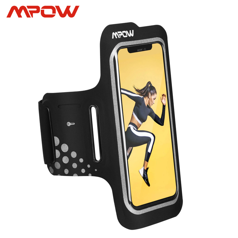 Mpow Sports Armband Up to 6.2inch For <font><b>iPhone</b></font> <font><b>XS</b></font> XR <font><b>X</b></font> 8 7 6S Adjustable Strap Earphone/Card/Key Pocket Arm Band <font><b>Belt</b></font> Case For Run image