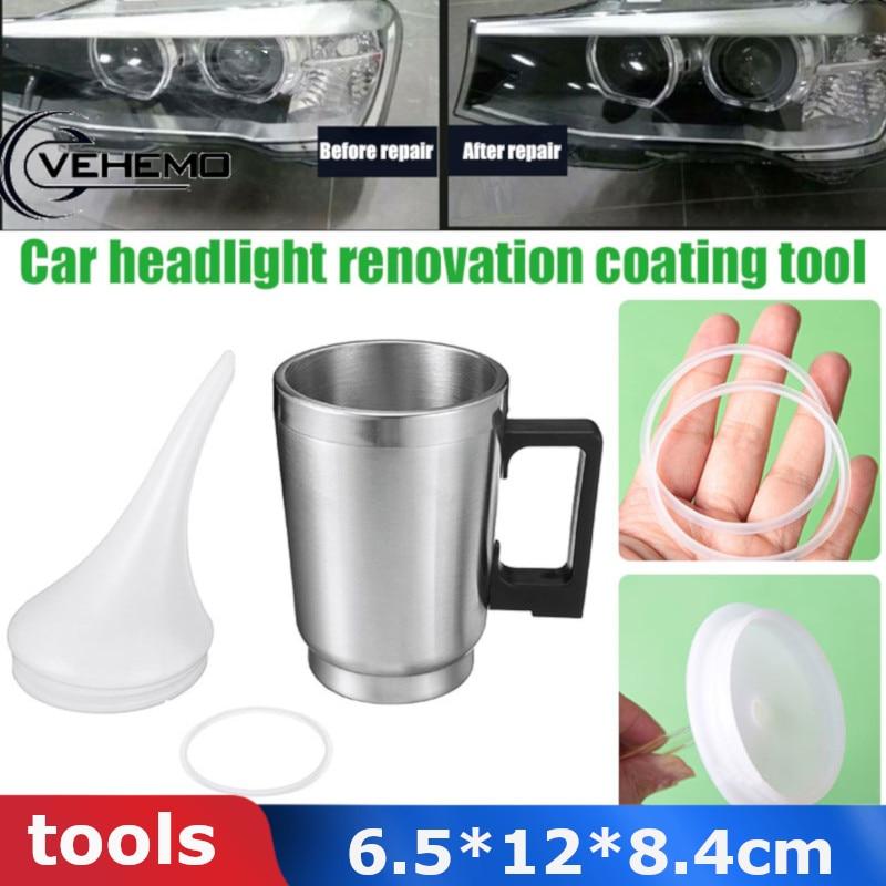 Vehemo из нержавеющей стали для инструмента Автомобильная чашка с подогревом реставрация нагревательный стаканчик ремонт фар автомобиля наг...