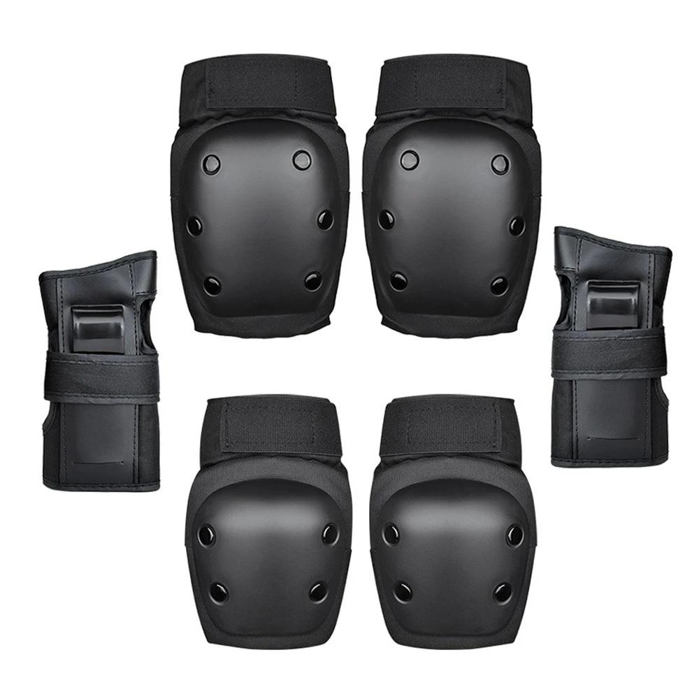 6 Pcs Adult Skating Scooter Knee Wrist Guard Elbow Pad Protect Guard Set